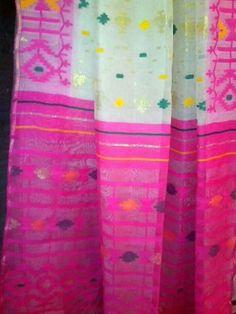 COTTON JAMDANI SARI,BENGAL,INDIA