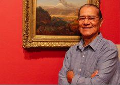 El Maestro Amaru Chiza posa junto a un histórico cuadro del volcán Cotopaxi, en su natal Ecuador, pintado en 1859 por su colega artista Louis Remi Mignot, miembro de la afamada Escuela de Paisajistas del Río Hudson del siglo XIX. - See more at: http://www.impactony.com/amaru-chiza-la-magia-del-mundo-andino-a-traves-del-ojo-arquitectonico-de-un-gran-artista/#sthash.ERkY4Pch.dpuf