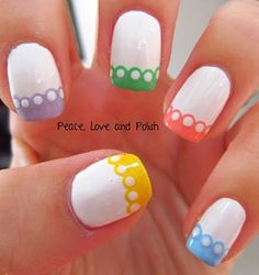 Scalloped Nail Art Design - DivineCaroline.com