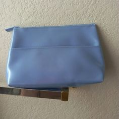 Elizabeth Arden Baby Blue Make up Bag Size Small make up bag has some marks on the back of the bag shown in picture two. Trade $12 Elizabeth Arden Bags Cosmetic Bags & Cases