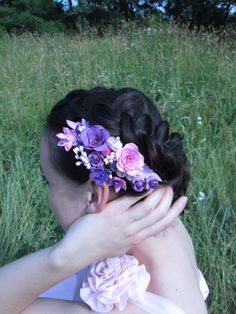 Wedding Hair Accessories comb Womens gift Sister Fashion accessories Floral pink Hair flower Roses Bridal comb Wedding Ready to ship Flower  Original ornaments for the hair, it is impossible to remain indifferent when you look at it. Im sure you will get a lot of compliments using this accessory in your everyday hairstyle. Great idea for a gift sister, friend or work colleague. The harmonious combination of purple, pink, purple. Comb your hair and emphasize personal style!  All the elements…