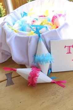Mini pinata party favors by DesignsbyPurcell on Etsy, $25.00