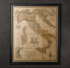 I am so madly in love with this! Stanford's 1859 Map of Italy