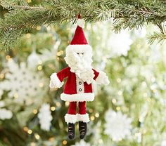 Plush Santa Ornament #pbkids