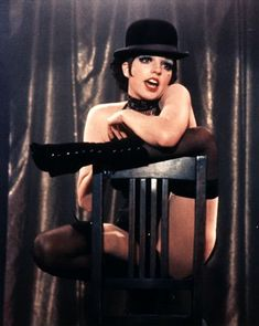 Liza Minnelli from Cabaret - Mein Herr. Liza is so beautiful in this movie and the soundtrack is killer. Mein Herr is my favorite. http://www.youtube.com/watch?v=CX-24Zm0bjk