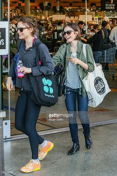Lily Collins is seen shopping at Erewhon on March 15, 2016 in Los Angeles, California.