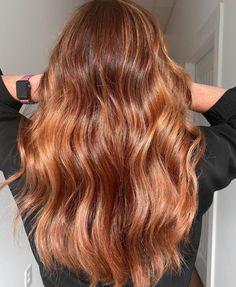 Copper Blonde Balayage, Balayage Hair Copper, Hair Color Balayage, Copper Hair, Haircolor, Ginger Hair Color, Hair Color Caramel, Blonde Hair Looks, Brunette Hair