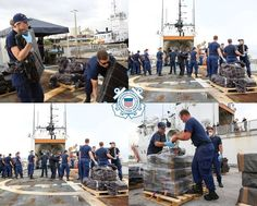 U.S. Coast Guard Cutter Tahoma's crew offloads more than 7,500 pounds of cocaine, an estimated street value of $143.5 million, at Port Everglades in Fort Lauderdale, Florida. Coast Guard Cutter, Fort Lauderdale, Times Square, Florida, United States, The Unit, America, Travel, Street
