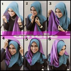 Hijabs with two ombre shades look always amazing, they come in different stunning colors and add a stylish look to your outfit. This is a quick hijab tutorial on how you can show both shades and create a beautiful look…