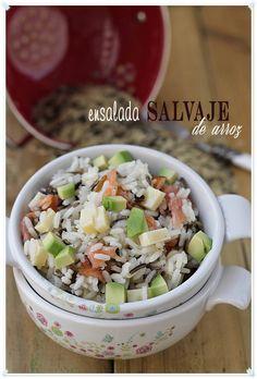 Ensalada Salvaje de arroz {by Paula, Con las Zarpas en la Masa}
