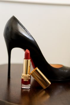 heels and a red lip