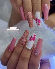 Abstract Nail Art, Barbie, Beauty Forever, Fire Nails, Best Acrylic Nails, Nail Decorations, Nail Arts, Manicure, Make Up