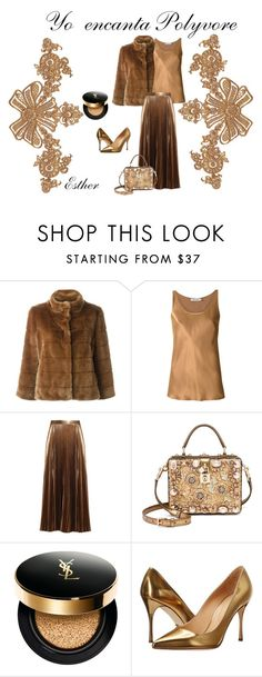 """Bronce"" by esther-garcia-de-la-cruz on Polyvore featuring moda, Armani Jeans, Gloria Coelho, A.L.C., Dolce&Gabbana, Yves Saint Laurent y Sergio Rossi"