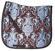 Lovely Levade Chenille/Brocade Baroque Dressage Saddle Pad $39.95. Many other colors to choose from. Visit us at www.equestrianhomeaccessories.com.