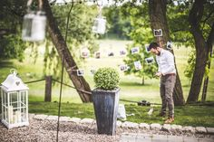 Prace w ogrodzie / Work in the garden #wedding #decoration #lantern #rustic #light #candle #garden