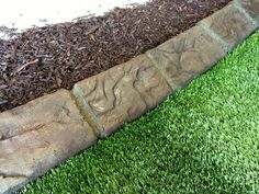 decorative landscape edging ideas Concrete Edging, Concrete Curbing, Landscape Curbing, Landscape Edging, Edging Ideas, Lawn Edging, Yard Landscaping, Landscaping Ideas, Curb Appeal