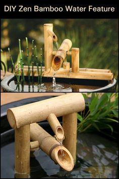 This shishi-odoshi or the deer scarer bamboo fountain is a great addition to y. This shishi-odoshi Bamboo Water Fountain, Diy Fountain, Garden Fountains, Water Fountains, Outdoor Fountains, Indoor Water Features, Water Features In The Garden, Ponds Backyard, Backyard Waterfalls