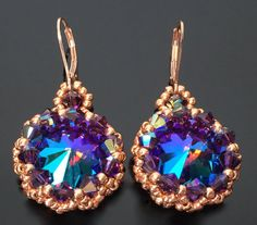 Hey, I found this really awesome Etsy listing at https://www.etsy.com/listing/231867636/purple-swarovski-crystal-rivoli-earrings