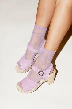 Mar 2020 - Darner Solid Lavender Mesh Socks – Darner Socks Mesh Socks, Sheer Socks, Daphne Blake, Socks And Sandals, Heels With Socks, Funky Shoes, Aesthetic Shoes, Cute Socks, Sock Shoes