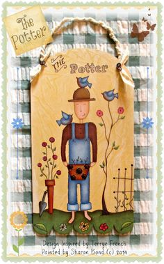 The Potter by Sharon Bond, email pattern packet by PaintingWithFriends on Etsy