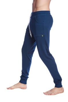 47ed727210 Ultra Flex & Breathable Men's Long Cuffed Jogger Yoga Pants (Royal Blue)