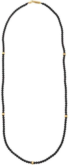 Roman Paul onyx bead necklace - Men