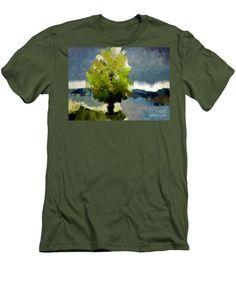 Men's T-Shirt (Slim Fit) - Abstract Landscape 1522