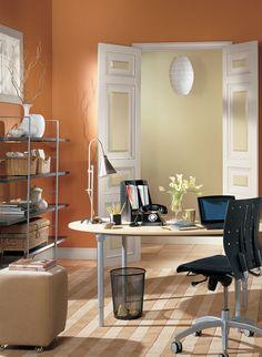 buttered yam AF-230 Orange Office Benjamin Moore