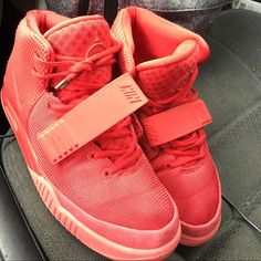 Shop Women's Nike Red size Sneakers at a discounted price at Poshmark.  Description: Nike air Kanye West Yeezy 2 NRG red October size Sold by  lovelyladi.