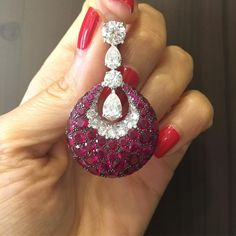 Diamond and Ruby Earrings#Bjc #GraffDiamonds