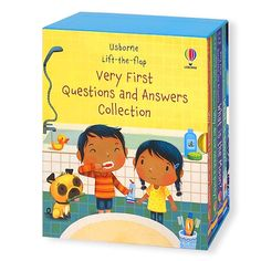 Usborne Lift-the-flap Very First Questions and Answers 4 Books Box Set