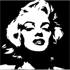Marilyn Monroe Pop Art Decal $15 @Espe Bradford, these rock!