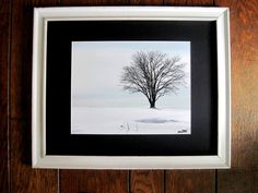 Woods Hole Golf Course Snow Tree Winter Scene  by MuttiArtography, $125.00