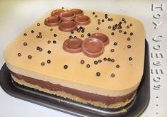 Tarta de chocolate y turron