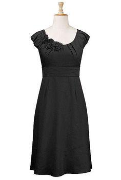 Cotton poplin rosette trim dress $59.95-- @DanCin Latarski -- this may be a good source for shower/ rehearsal dresses!