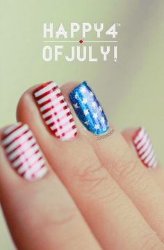4th of July Nails ~ Groove Girl