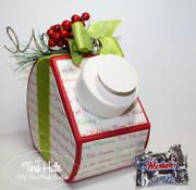 Christmas Candy project created using products and the Crazy for Candy template from www.mytimemadeeasy.com