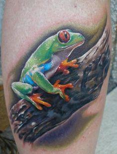 Incredible Frog Tattoo Design