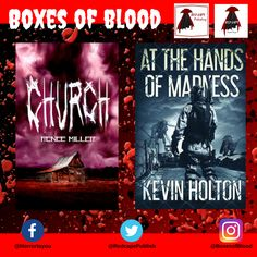 Hand-picked horror, delivered to your door. Featuring the best independent and small-press horror writers working today. Horror Books, Work Today, Writers, Blood, Boxes, Product Launch, Movie Posters, Crates, Film Poster
