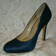 I.N.C. Fabulous Navy Fur heels Sz 10 Gorgeous navy fur pumps worn once. A bit too high for me unfortunately, yet very comfortable with cusioned sole that reminds me of the Nike Air feature in my other shoes. Excellent condition. Absolutely no flaws. Sorry no trades. INC International Concepts Shoes Heels