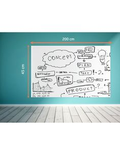 New Idea Innovative Dry Erase Self-Adhesive Whiteboard Roll for kitchen, living room and stylish decor. Size: Length : 120cm Wide : 45 cm This whiteboard is really a good idea to save space without mess. Can be used Indoors and outdoors. This whiteboard sticker is easy to apply to walls in your office, classroom or nursery to instantly and economically create a whiteboard. You can also apply it to refrigerators or kitchen cabinets. You can use regular markers and wipe clean with a wet cloth…