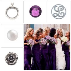 Floor-length Royal Purple Bridesmaid Gowns very classy and love the bouquets! Purple Bridesmaid Gowns, Bridesmaids, South Hill Designs, Purple Themes, All Things Purple, Sentimental Gifts, Maid Of Honor, Wedding Season, Bridal