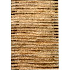 @Overstock - Fashion meets sustainability in this eco-friendly Fields rug. This casual floor rug is hand-knotted of 100-percent high-quality jute pile on a cotton warp and weft with a fringeless border. The all-organic rug features natural beige and ivory colors.http://www.overstock.com/Home-Garden/Hand-knotted-All-Natural-Fields-Beige-Hemp-Rug-6-x-9/4703161/product.html?CID=214117 $246.49
