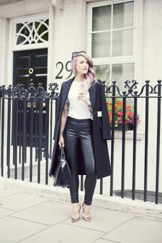 From @inthefrow 's Blog: amazing hair style, perfect outfit and Celine #sunglasses #style #fashion