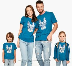 Matching Funny Family Outfit, Matching Pug Tshirts, Matching Dog Tees, Family Holiday Outfit, Matching Lounge Set, Comfy Outfit, Family Gift