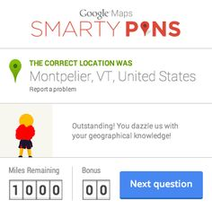 Google Maps Smarty Pins - geography game