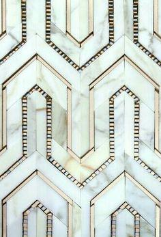 Art deco metal and marble work / geometric, graphic interior design Motif Art Deco, Art Deco Design, Tile Design, Art Deco Pattern, Pattern Design, Art Deco Style, Colour Pattern, Retro Design, Graphic Design