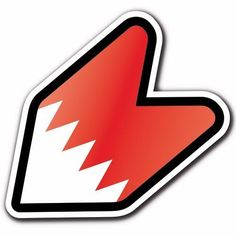 Bahrain - JDM Wakaba Leaf Flag Decal Sticker Mark Car Macbook iPad Shoshinsha #CUSTOMI
