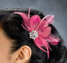 Hot Pink Feather Accessory Clip ... idk if you like feathers, but these are cute!