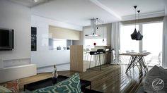 Salas de estilo moderno por Progetti Architektura